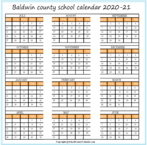 Baldwin Academic School Calendar