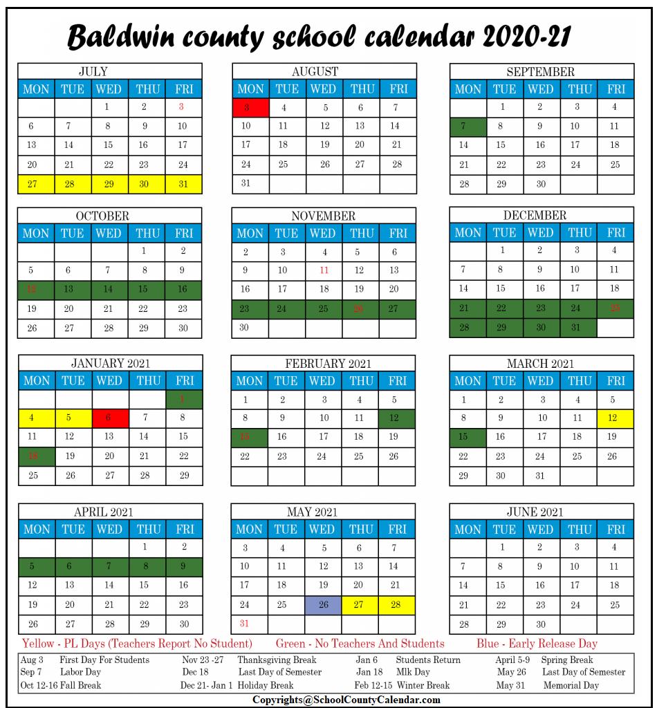 Baldwin County School Calendar 2021-2022 Baldwin County School Calendar 2021 22 | Important Update | County
