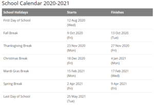 Baldwin County School Calendar 2021