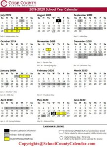 Cobb County School Calendar