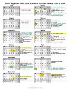 Collier Academic School Calendar