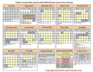 Fairfax County School Calendar