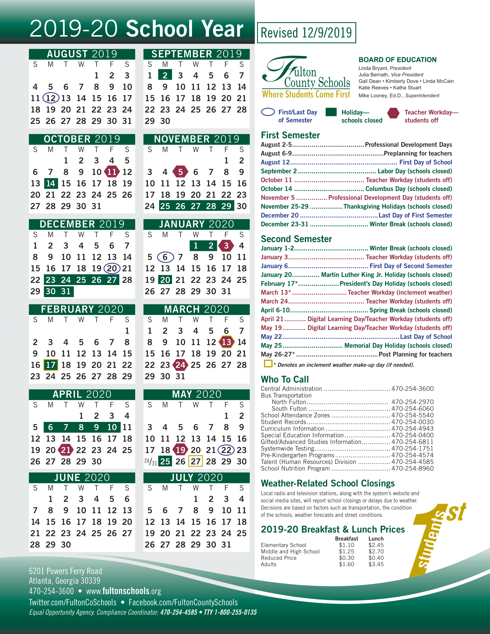 Fulton County 2021-22 School Calendar Fulton County School Calendar 2021 22 | Important Update | County