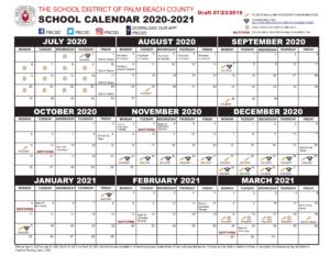 Palm Beach County Public Schools Calendar