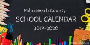 Palm Beach County School Calendar