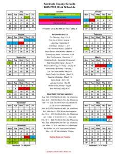Seminole County School Calendar