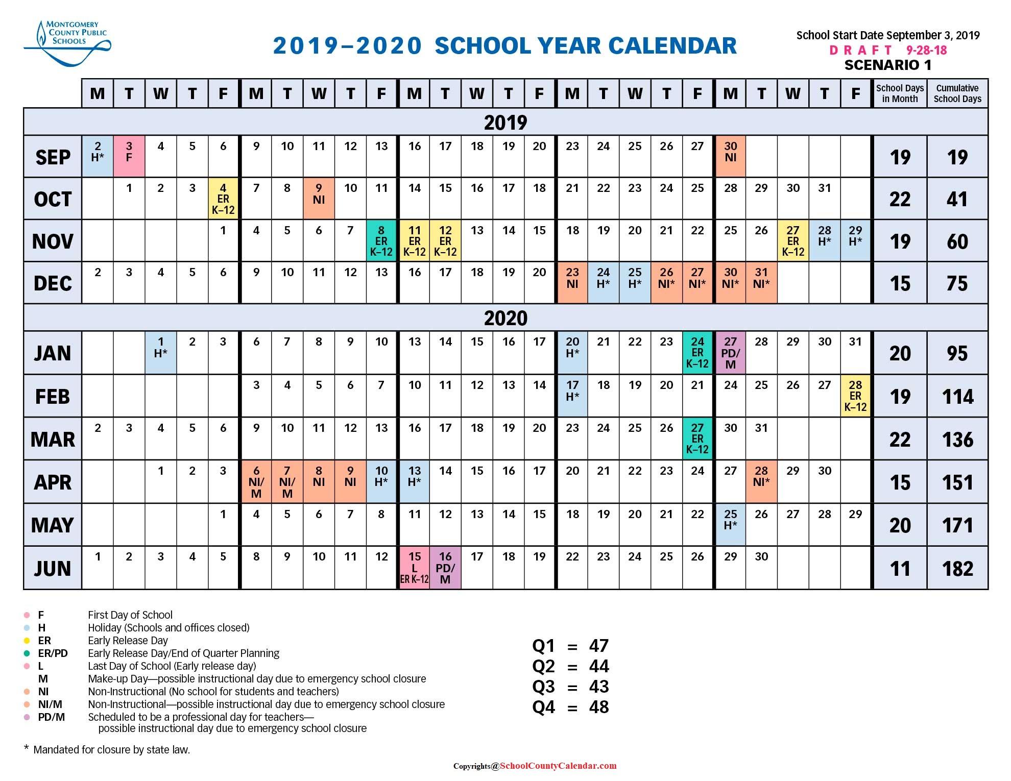 Montgomery County Public Schools Calendar 2021-22 Montgomery County School Calendar 2021 22   Important Update