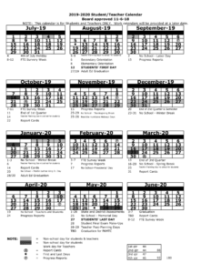 Pasco County Public Schools Calendar