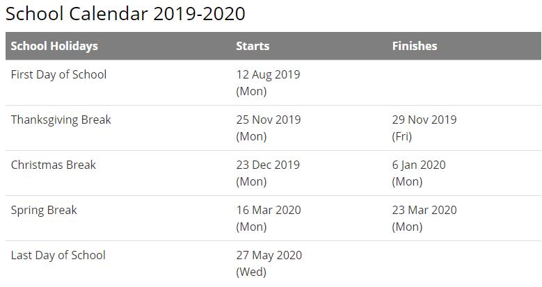Pasco School Calendar 2020