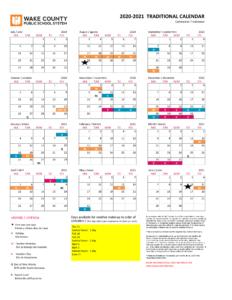 Wake County Public Schools Calendar