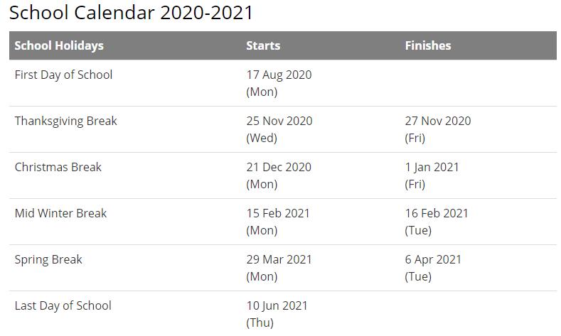 Wake County School Calendar 2021