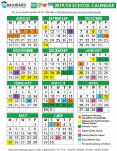 Broward County Public School Calendar 2021
