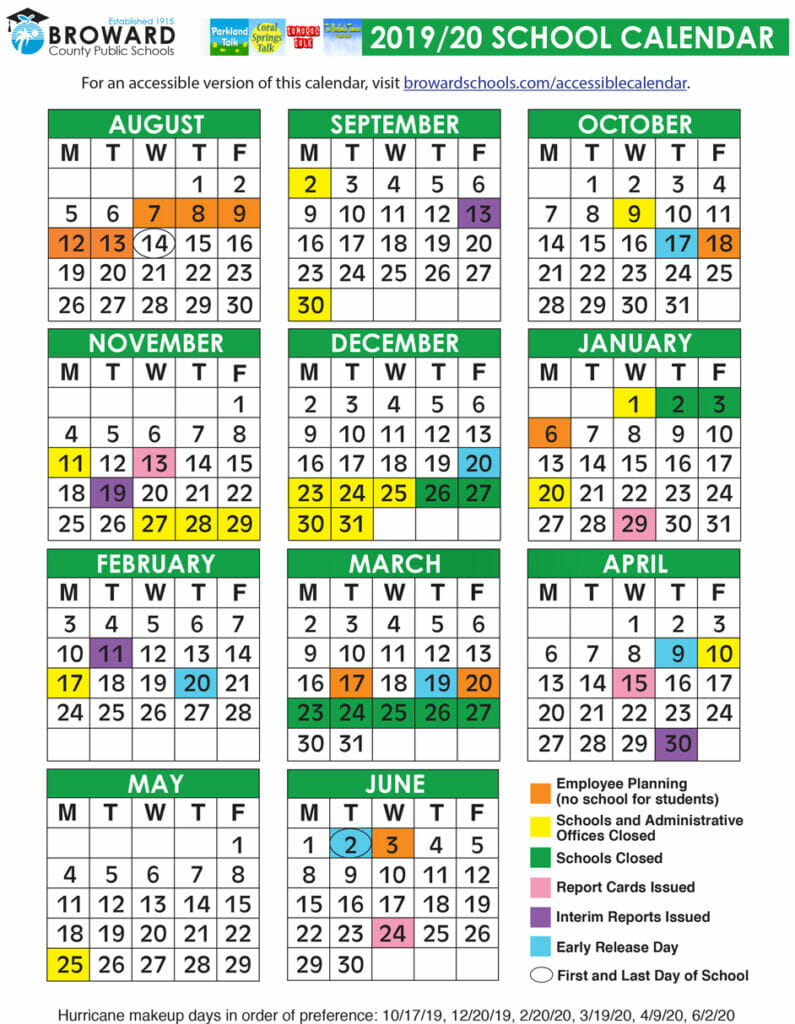 Broward County Public School Calendar 2021