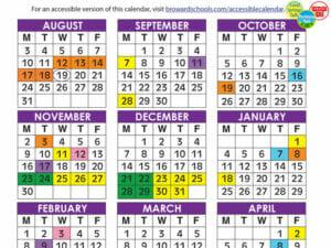 Broward County School Calendar 2021