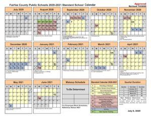 Fairfax County Public Schools Calendar