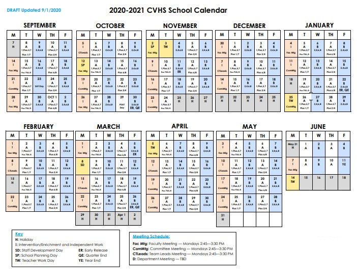 Fairfax County School District Calendar