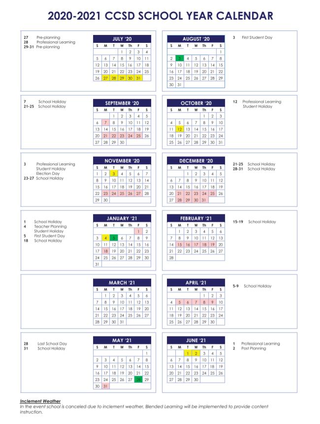 Cherokee County School Calendar 2021-2022