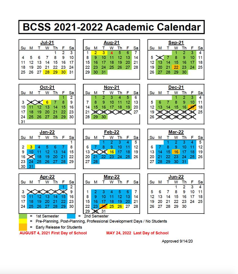Bartow County School Calendar 2021-2022, Bartow County School Calendar