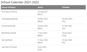 Buncombe County School Calendar 2021-2022