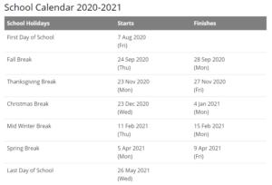 Dawson County School Calendar