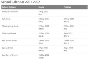 Dawson County School Calendar 2021-2022