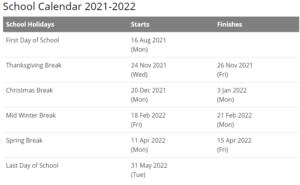 Berkeley County School Calendar 2021-2022
